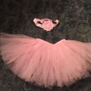 Other - Newborn Photo Tutu and Matching Headband in Pink